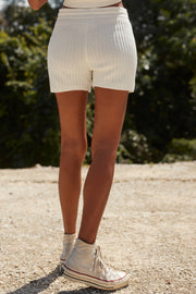 EVY KNIT SHORT - WHITE