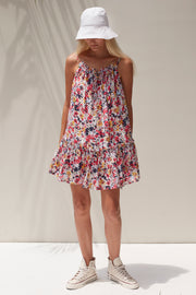 Savannah Mini Dress - Vincent Multicolor Floral