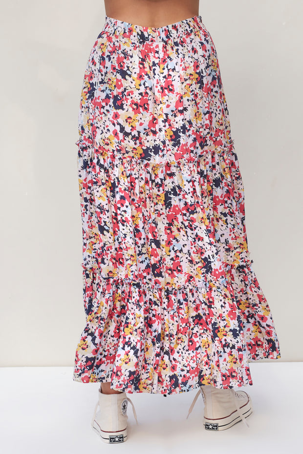 Victoria Skirt - Vincent Multicolor Floral
