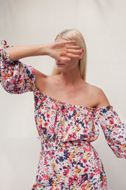 Frances Off Shoulder Top - Vincent Multicolor Floral