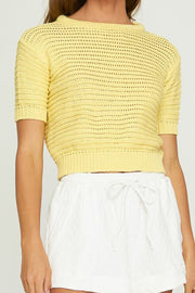 PELE KNIT TOP - Lemon