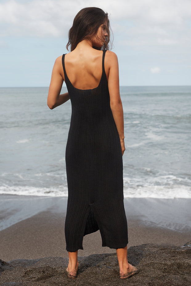 SAIGE MAXI DRESS - BLACK