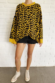 Edie Oversized Leopard Sweater