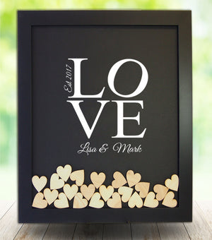"Vinyl ""LOVE"" Drop Box Frame"