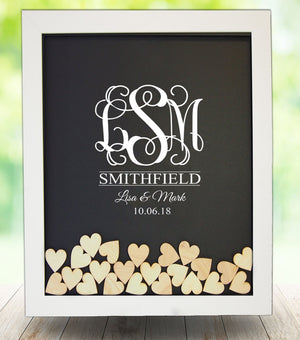 Vinyl Drop Box Guest Book Frame