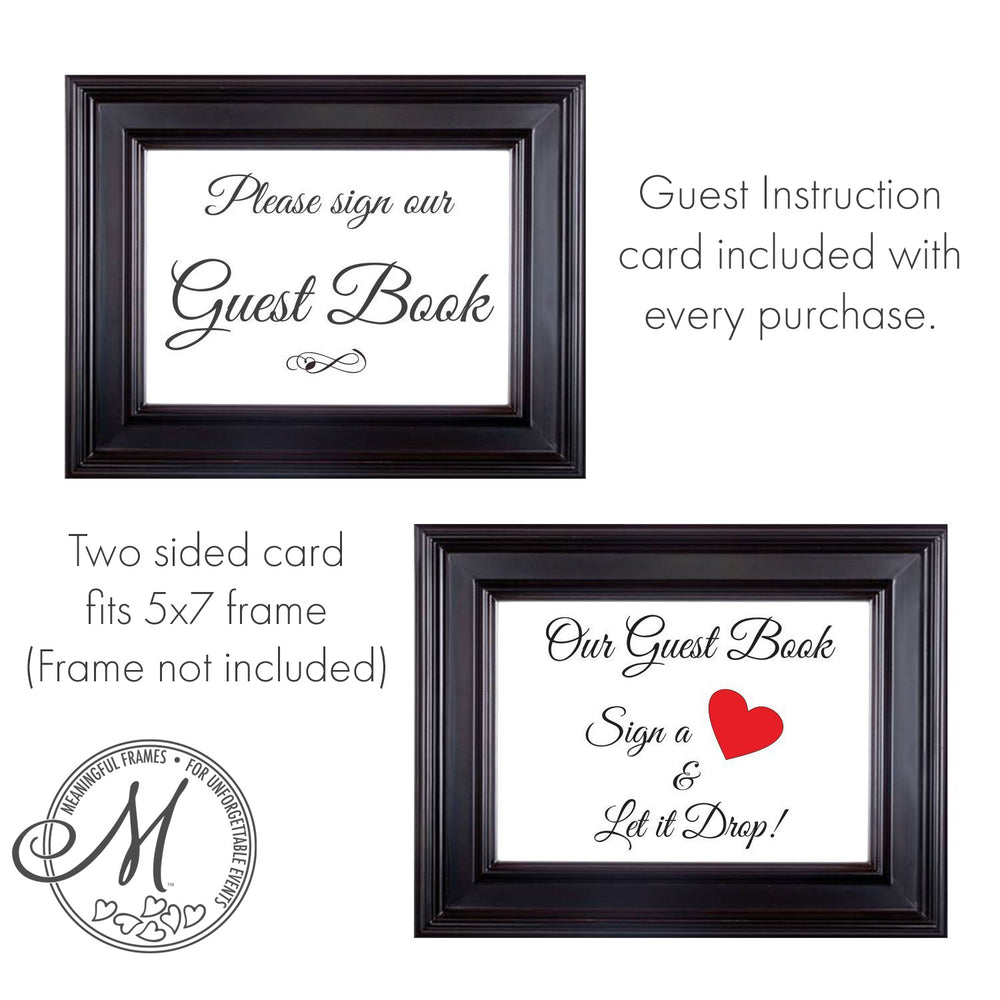 California Drop Box Guest Book Frame