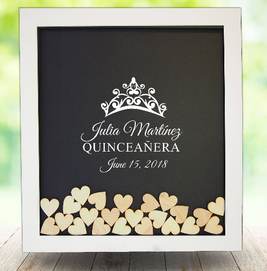 Quinceanera Guest Book Frame
