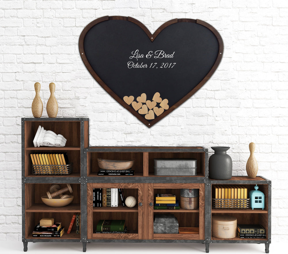 Heart Shaped Guest Book Frame