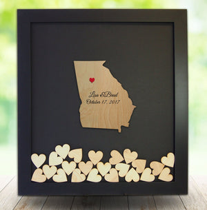 Drop Box Frame with Wooden Georgia Insert