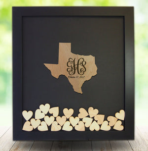 Drop Box Guest Book Frame with Texas Wooden Insert