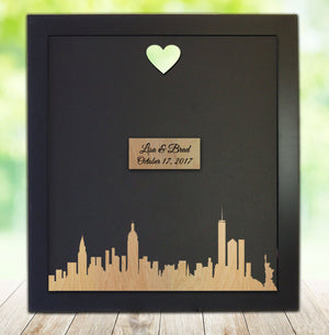 New York City Skyline - Guest Book Frame