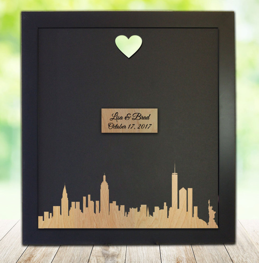 City Skyline - Custom Wedding Guest Book Frame