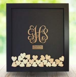 Drop Box Guest Book Frame with Vine Monogram