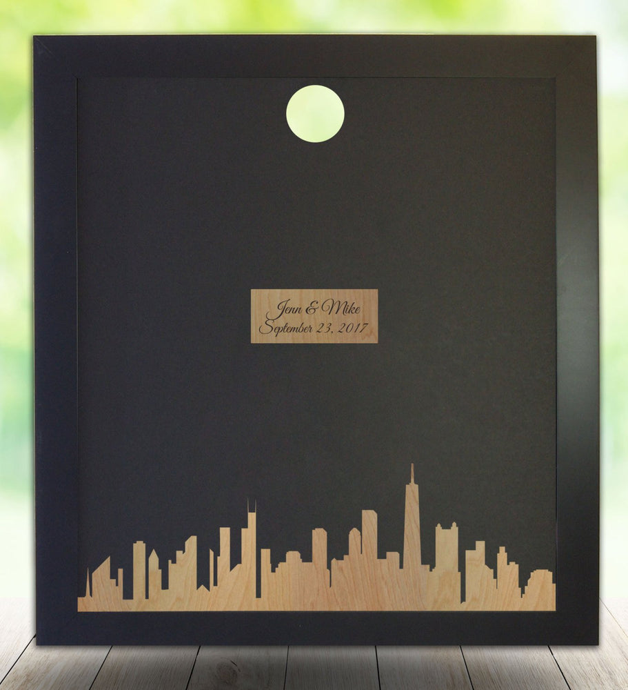 Chicago Skyline Guest Book Frame