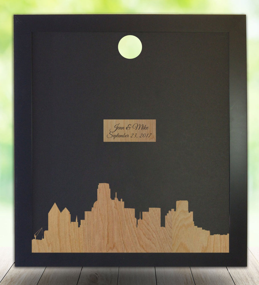 Dallas Texas Skyline, Guest Book Frame