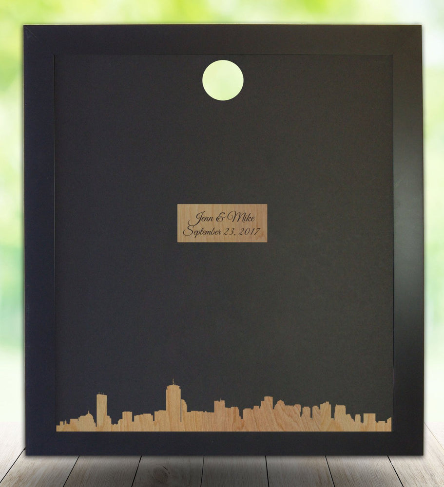 Boston, MA Skyline Guest Book Frame