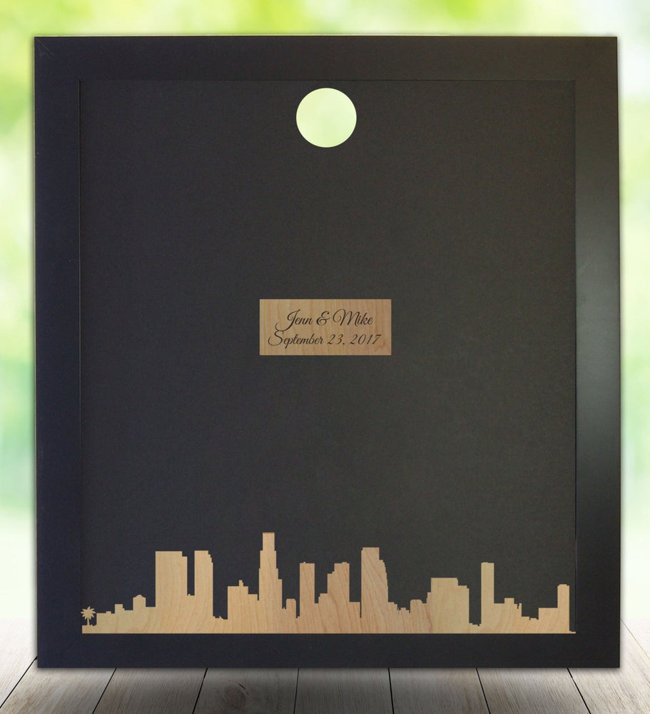 Los Angeles Skyline - Guest Book Frame