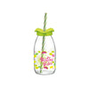 Decorated Straw Bottle