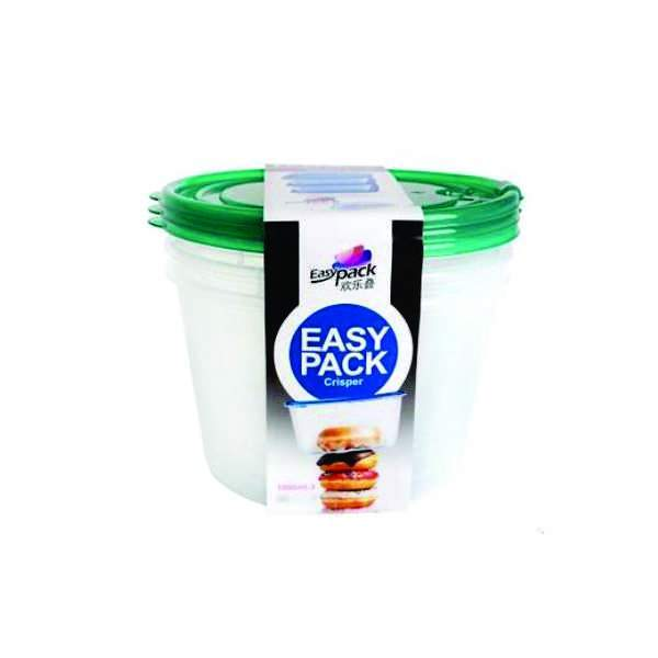 Air vent lid microwave plastic food container set Pack f 3