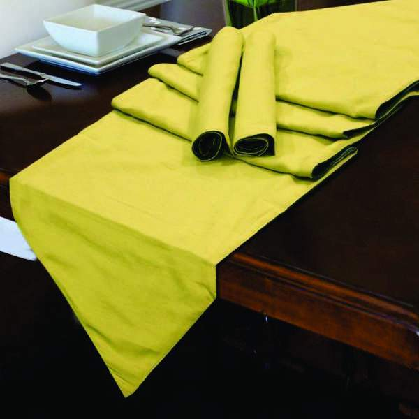 Table Runner 7 PC Set - Plain Double Sided