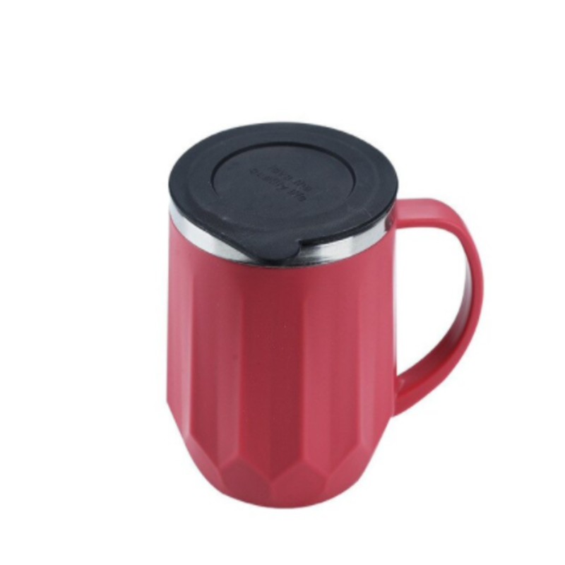 Straight Cut Wide Lines Insulated Mug