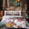 Multi Colored Floral Bed Spread (Comforter Set)