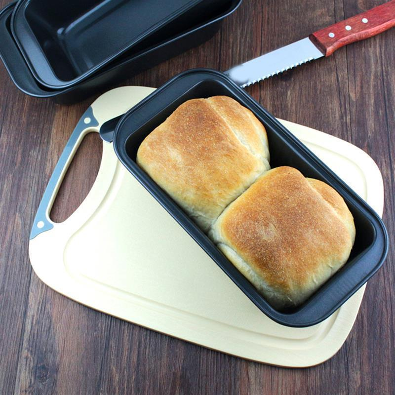 1pc Loaf Pan Rectangle Toast Bread Mold Cake Mold Carbon Steel Loaf Pastry Baking Bakeware DIY Non Stick Pan Baking Supplies