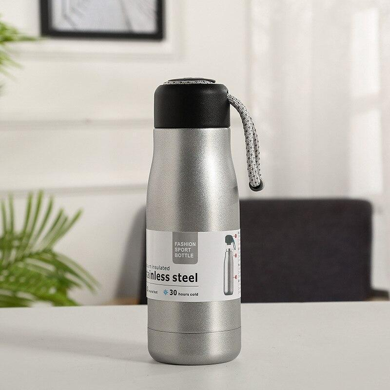 Rope Cut Stainless Steel Water Bottle (500mL)