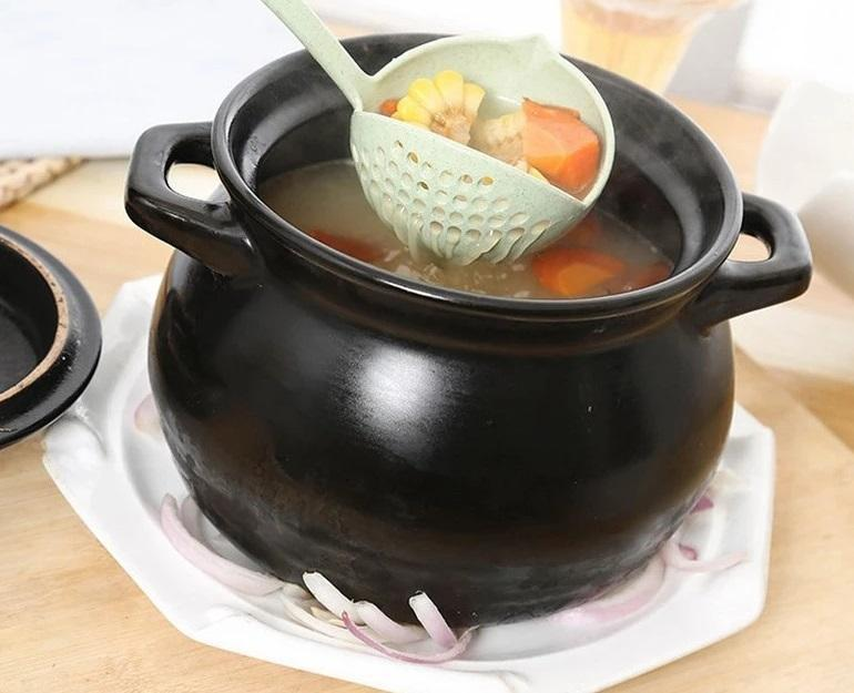 Long Handle Soup with Filter (2 in 1)