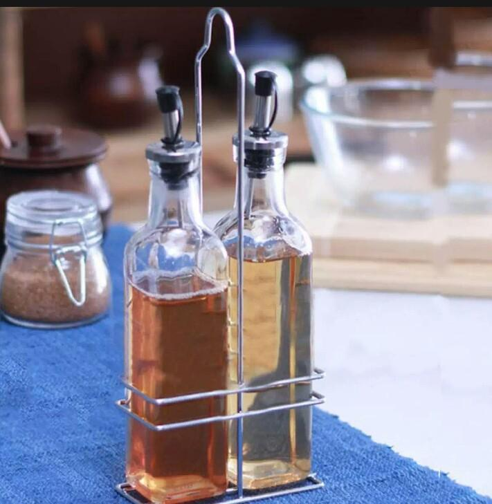 Oil & Vinegar Cruet Set with Rack (3 Piece)