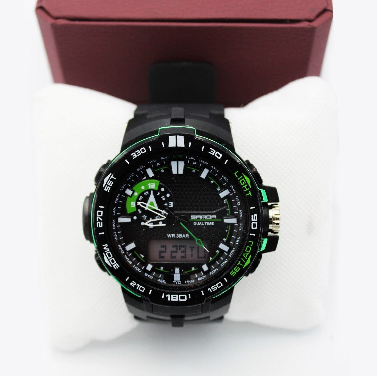 Sanda men sports watch with compas