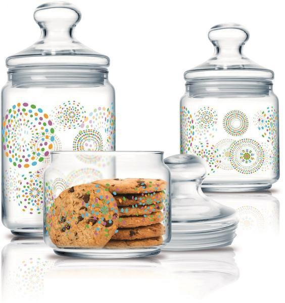 Luminarc Glass Jar With Lid - Set of 3