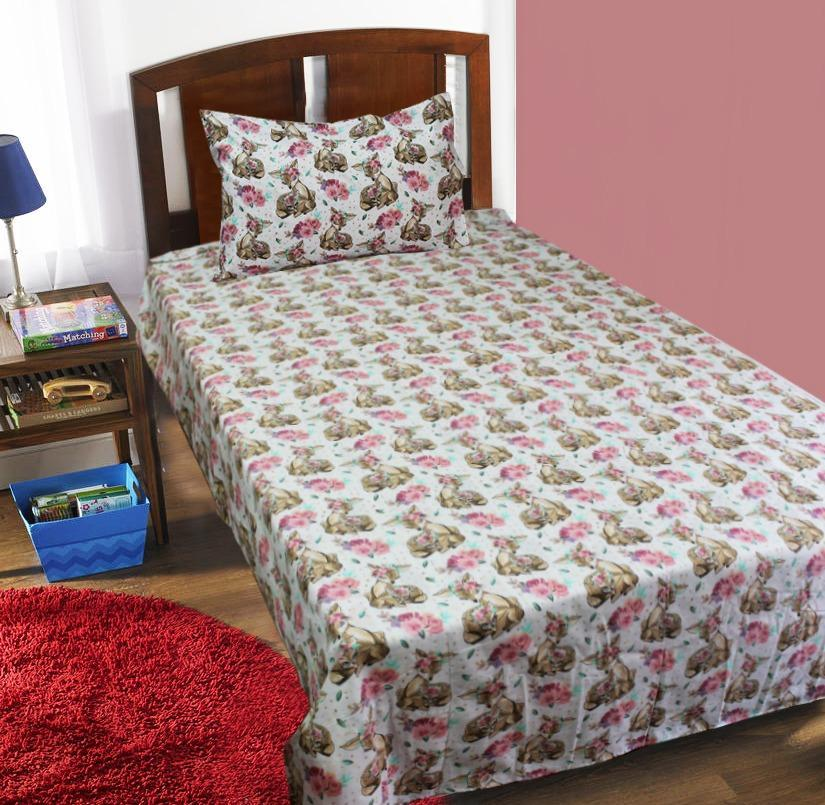 Single Kids Bed Sheet - Deer