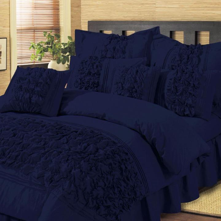8 Pieces Luxury Embellish Comforter Set - King Size