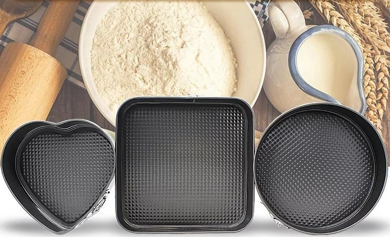 Three in One Non-stick baking cake Pan  (3 in 1)