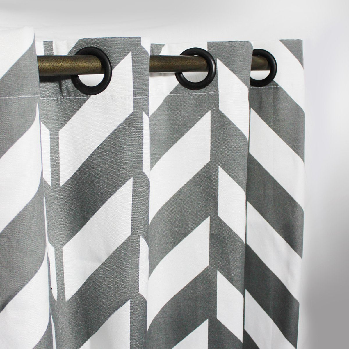 "Sand Grey - Curtain With Lining - Single Panel - 44"" x 96"""