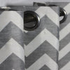 "Grey Chevron - Curtain With Lining - Single Panel - 52"" x 90"""