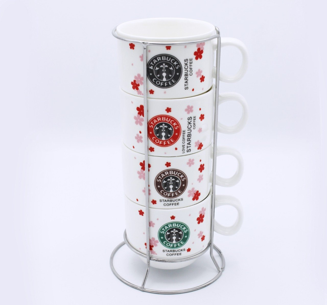 Starbucks Cup tower- 4 Pcs