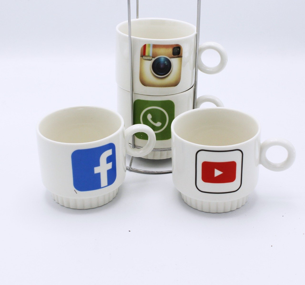 social icons Cup Tower - 4 pcs