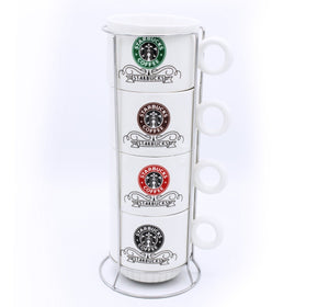 Starbucks coffee Cup Tower - 4 Pcs