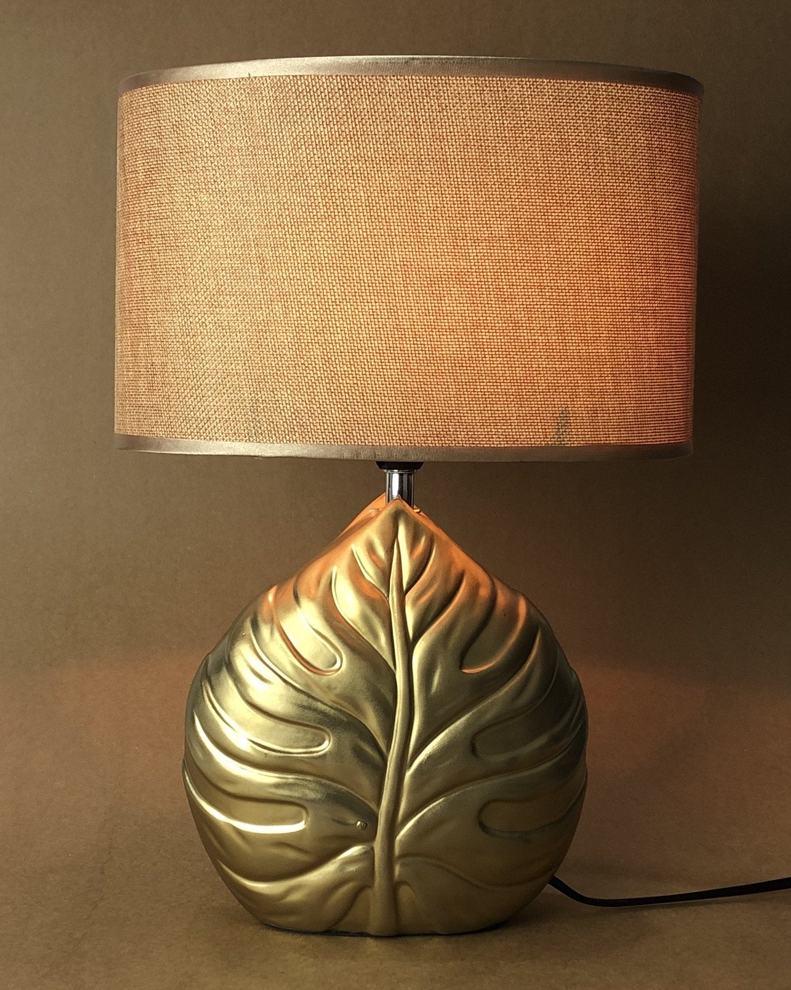 Ceramic Table Lamp with Shade with Bulb