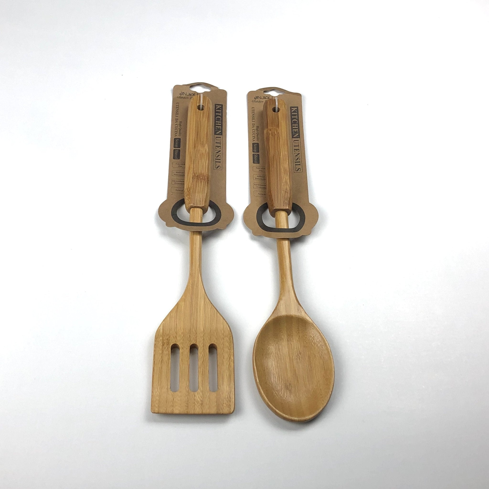Wooden Cooking Spoons and Spatulas - Jinjiali Golden Bamboo