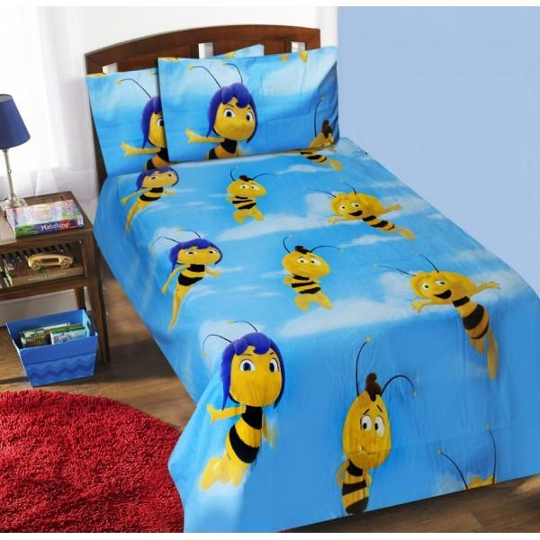 Single Kids Bed Sheet Set - Bee