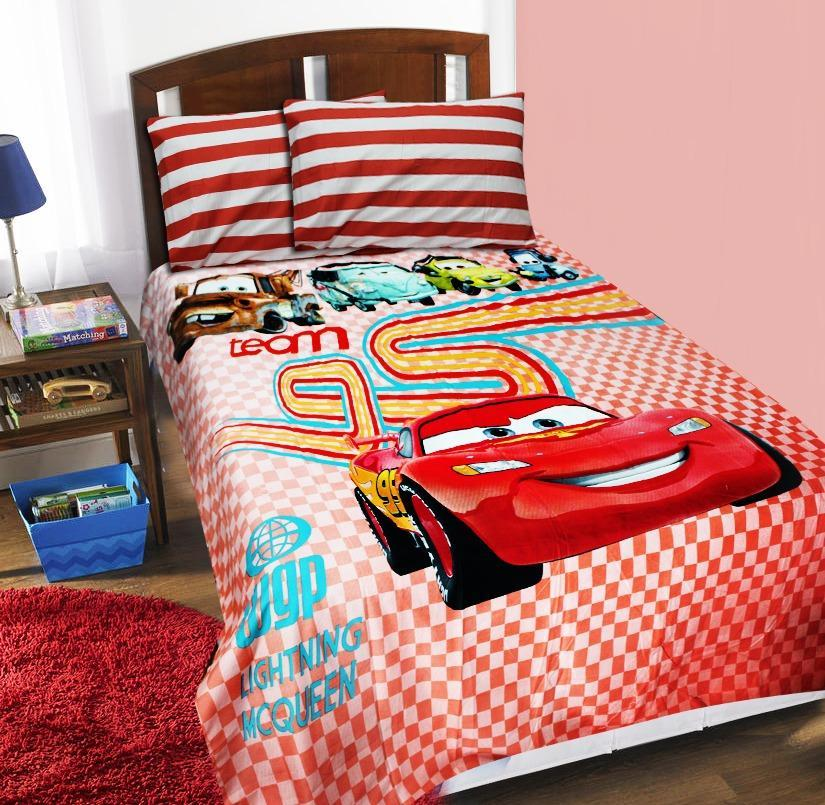 Single Kids Bed Sheet - Satin - Cars
