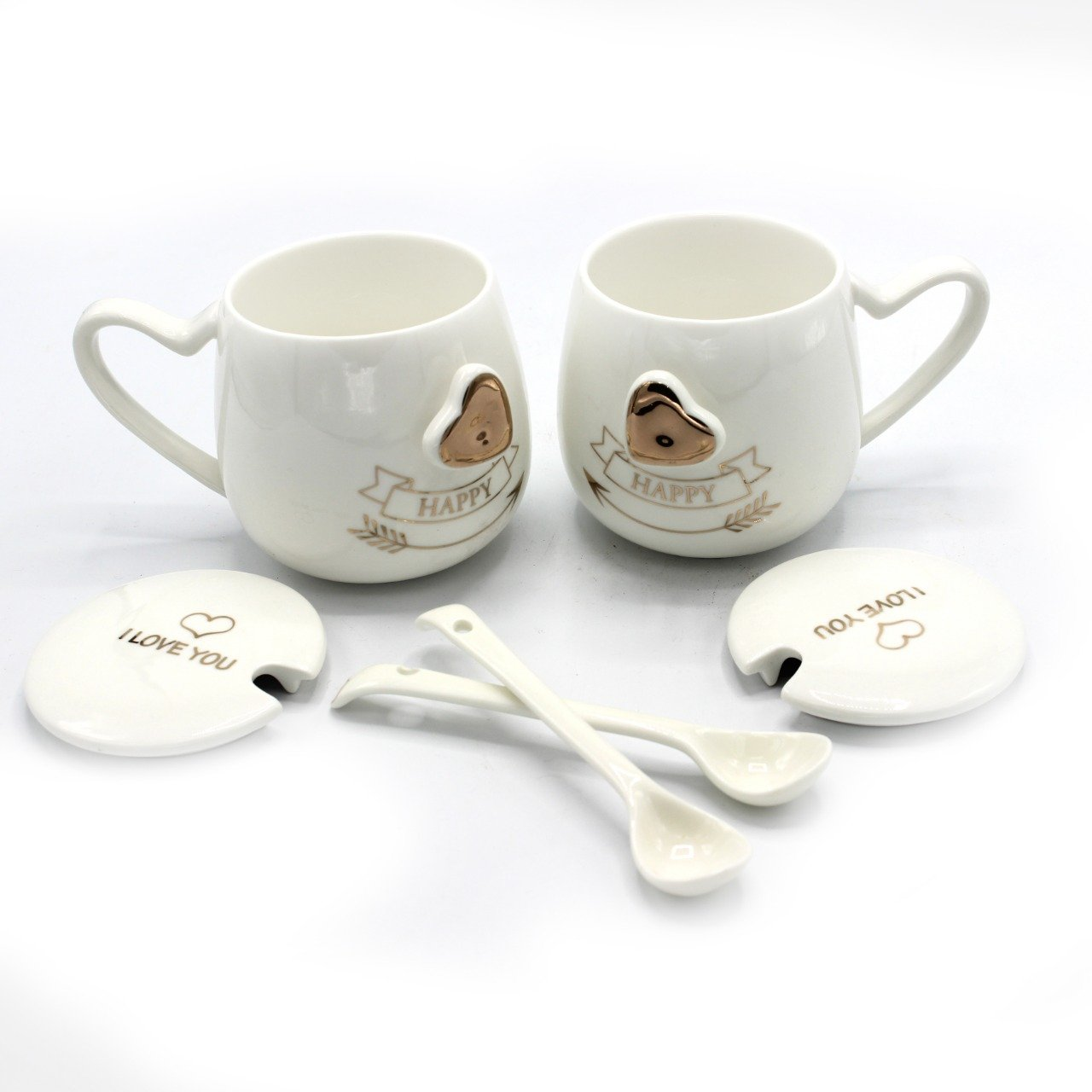 Mug Pair- Gold Love
