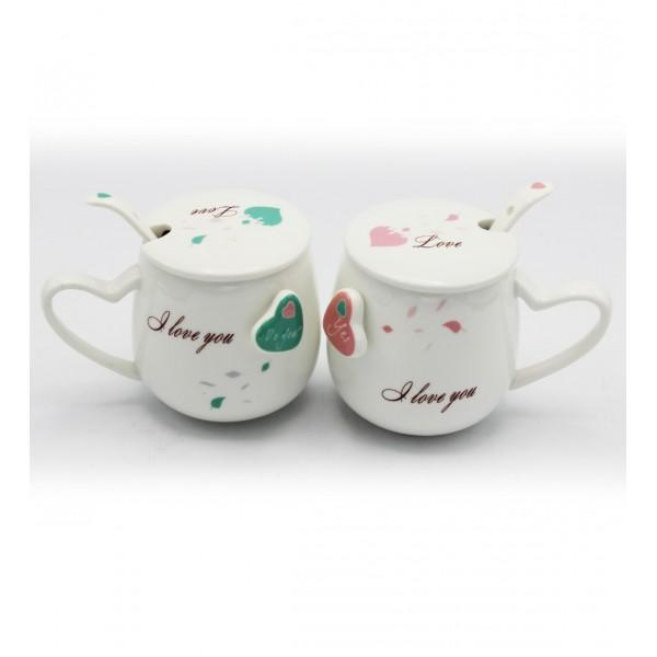 Mug Pair- Love Green