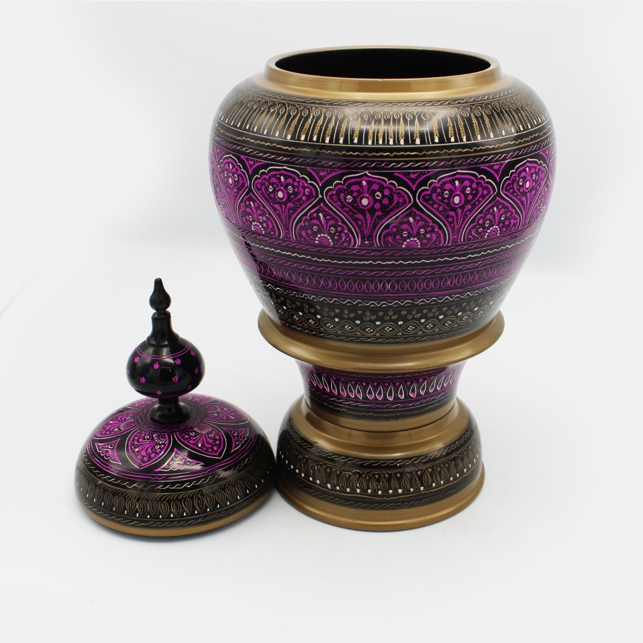 Wooden Pot - Nakshi - Large - 17""