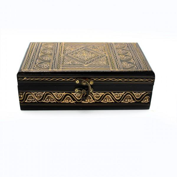 "Wooden Hand Made Jewellery Box - Small - 8"" x 5"""