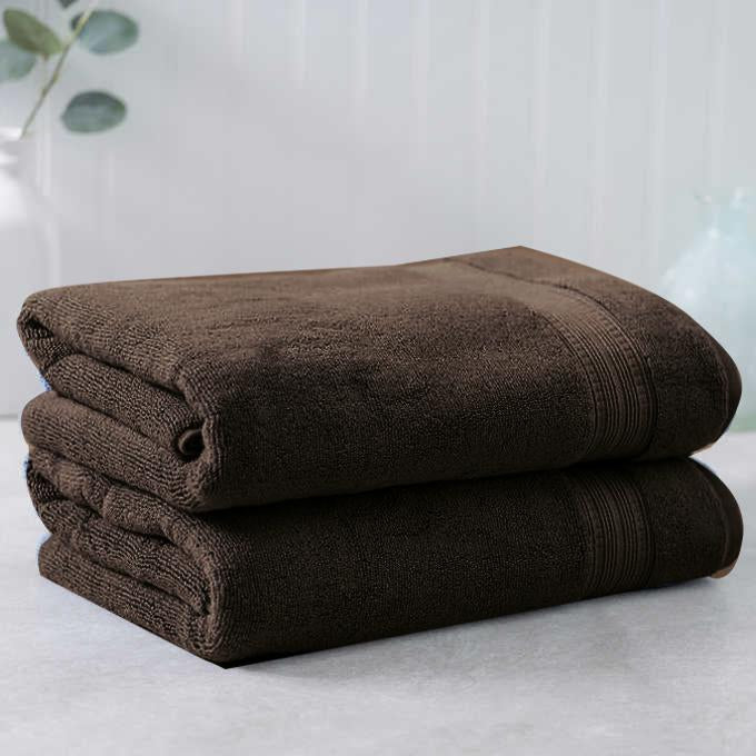 Dark Brown Egyptian Cotton Towel - Pack of 2