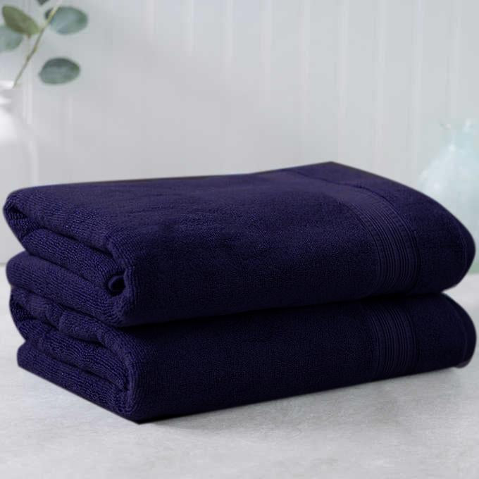 Dark Blue Egyptian Cotton Towel - Pack of 2